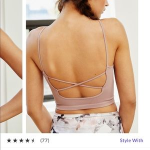 Free people strappy back tighten up tank